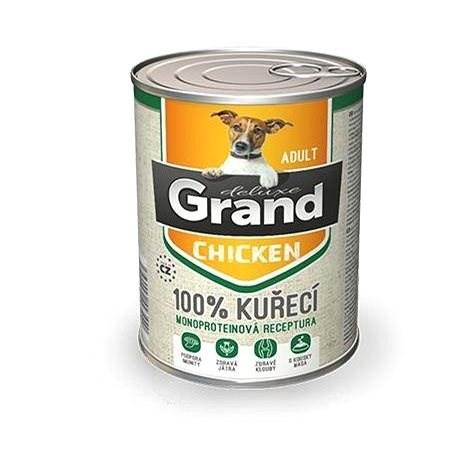 Grand deluxe 100% kuřecí Adult 400 g - Konzerva pro psy