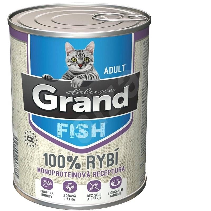 Grand deluxe 100% RYBÍ pro kočku 400 g - Konzerva pro kočky