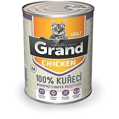 Grand deluxe 100% kuřecí pro kočku 400 g - Konzerva pro kočky