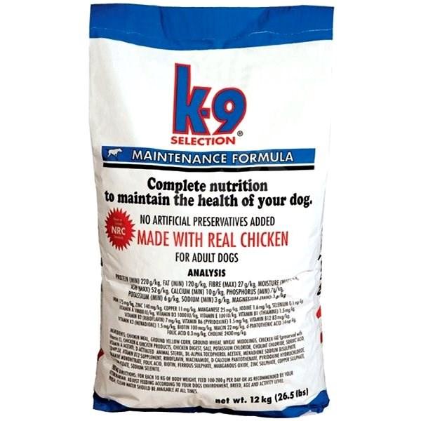 K-9 SELECTION MAINTENANCE FORMULA - pro dospělé psy 12 kg  - Granule pro psy