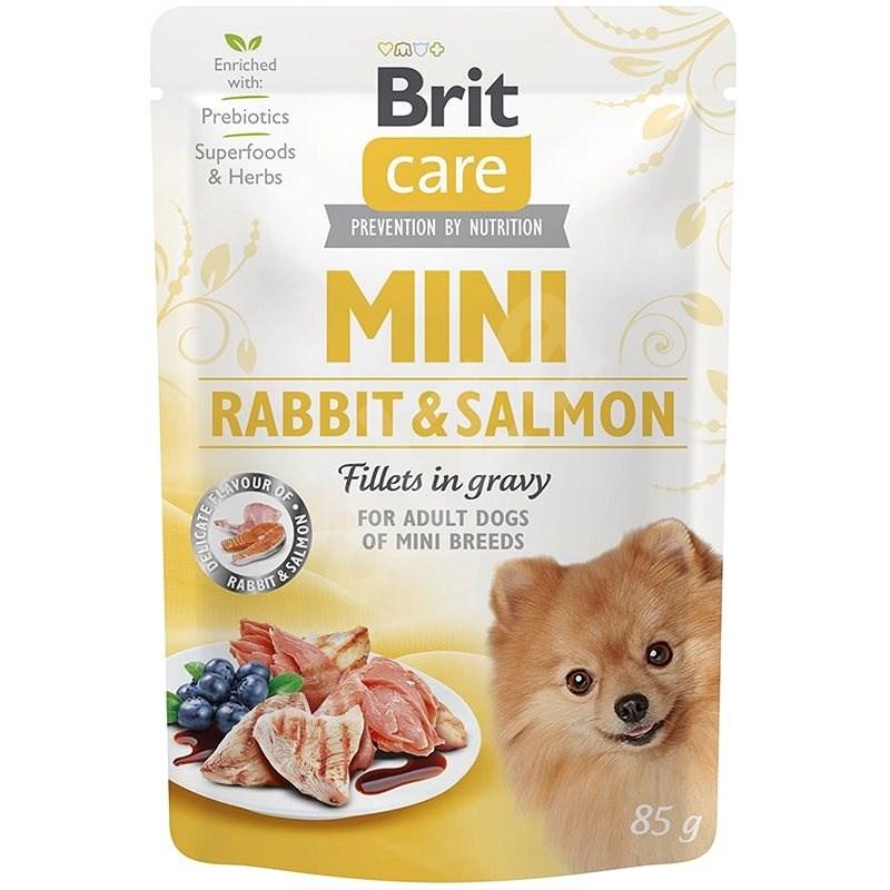 Brit Care Mini Rabbit & Salmon Fillets in Gravy 85 g - Kapsička pro psy