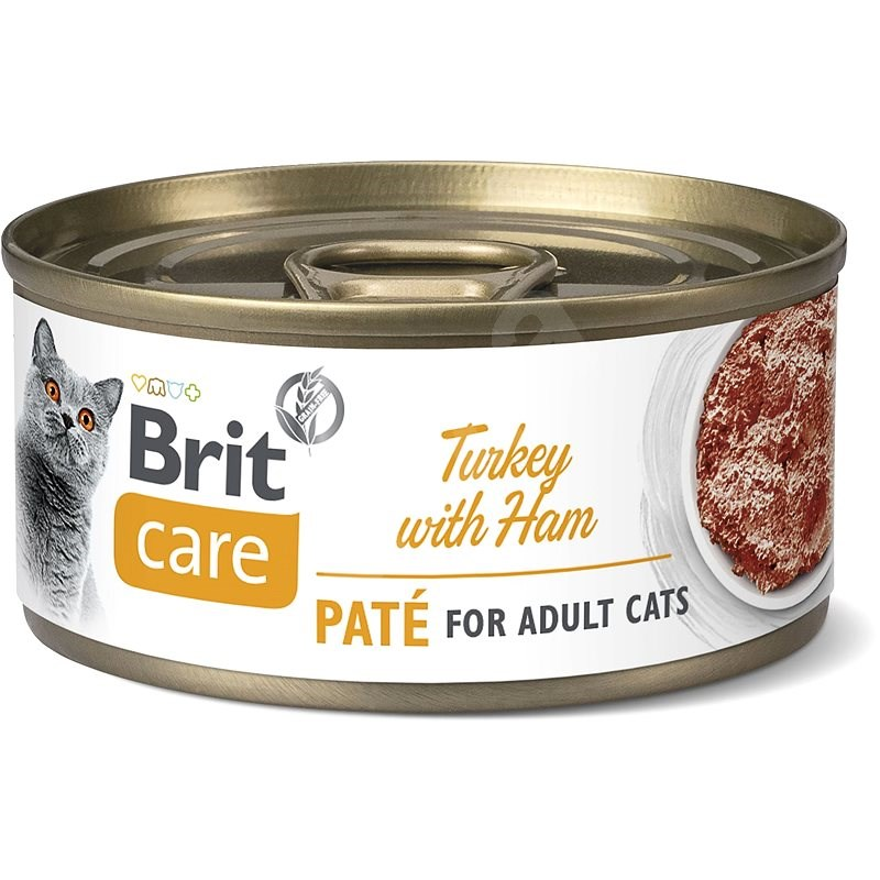 Brit Care Cat Turkey Paté with Ham 70 g - Konzerva pro kočky