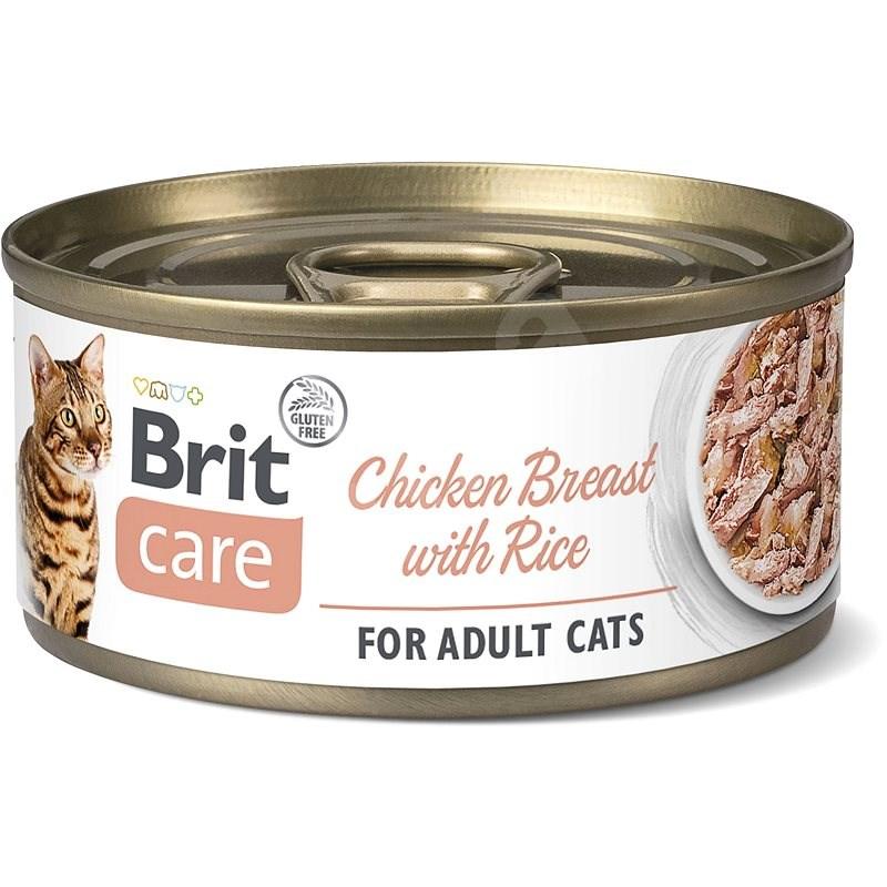 Brit Care Cat Chicken Breast with Rice 70 g - Konzerva pro kočky