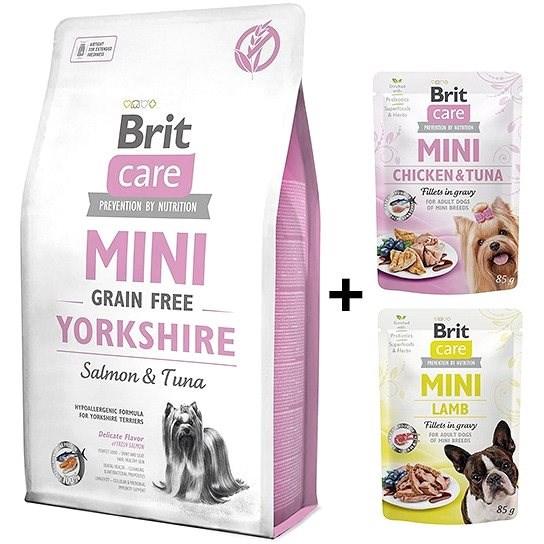 Brit Care Mini Grain Free Yorkshire 2 kg + 2x kapsička 85 g zdarma - Granule pro psy