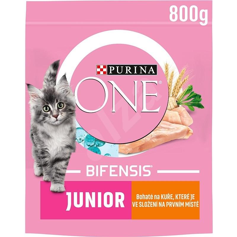 Purina ONE Bifensis Junior s kuřecím a celozrnnými obilovinami 800 g - Granule pro koťata