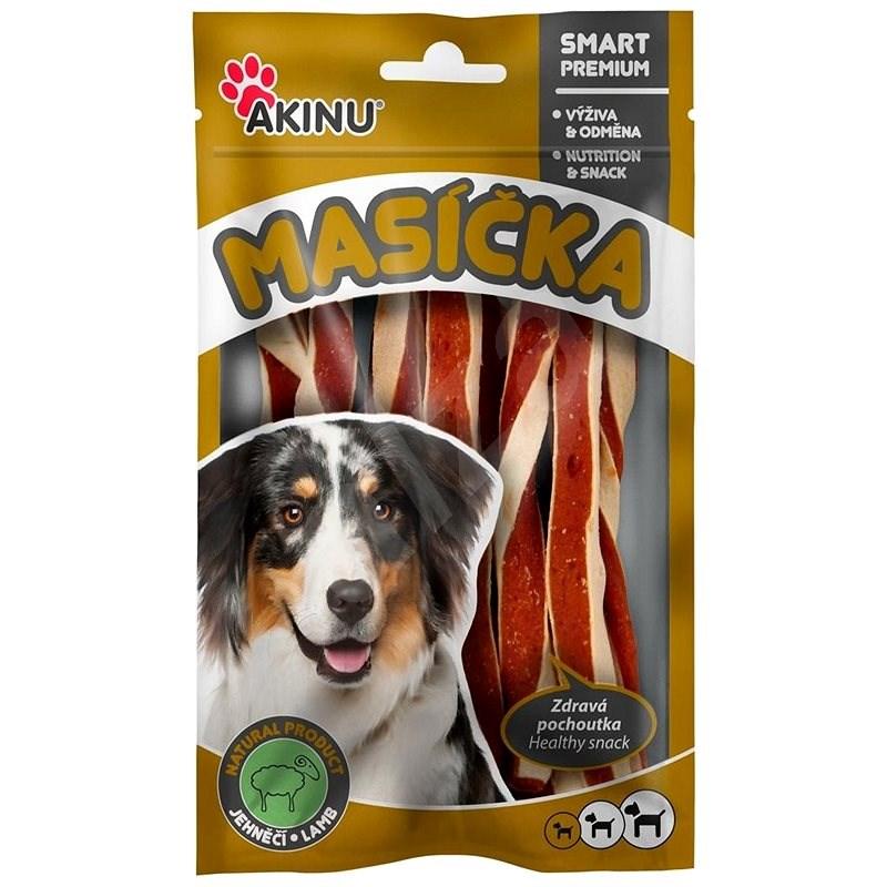 Akinu Jehněčí twister pro psy 75g - Sušené maso pro psy