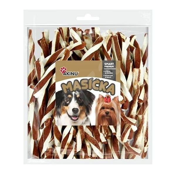 Akinu Jehněčí twister pro psy 300g - Sušené maso pro psy
