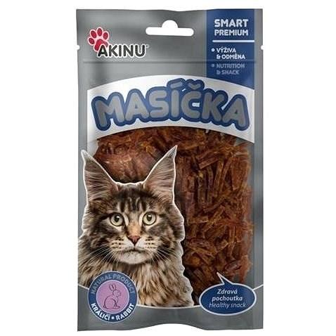 Akinu Králičí nudličky pro kočky 50g - Sušené maso pro kočky