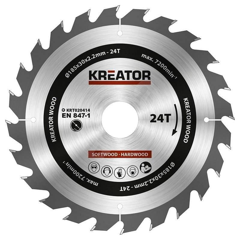 Kreator KRT020414, 185mm, 24T - Pilový kotouč na dřevo