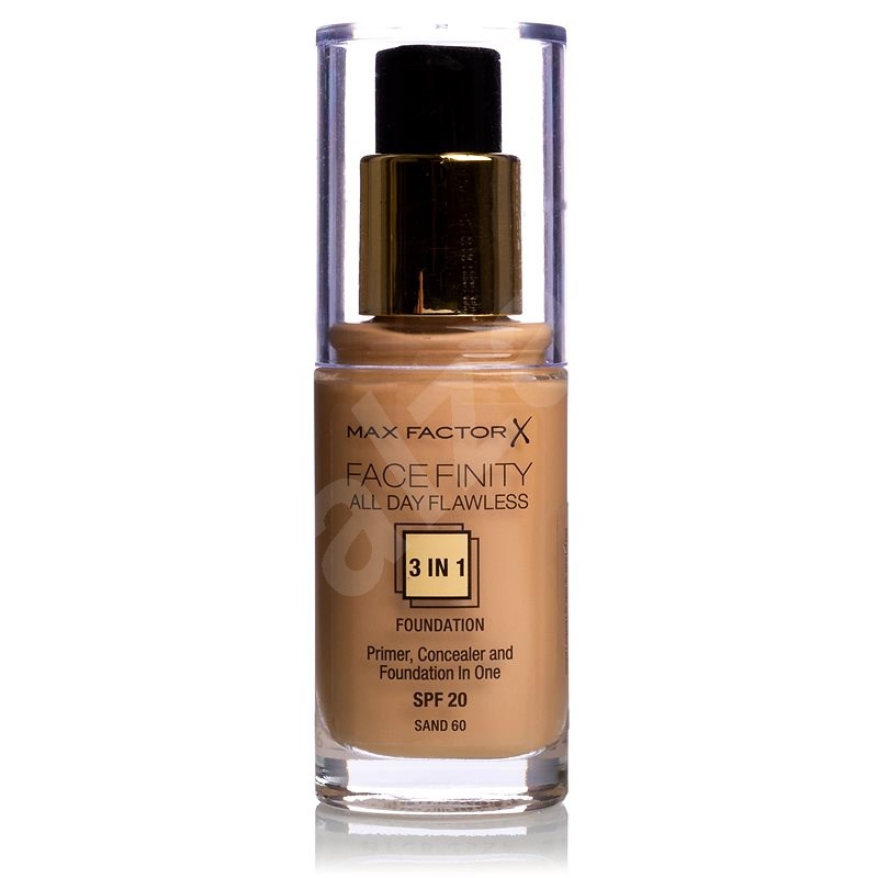 MAX FACTOR Facefinity 3 in 1 Foundation 60 Sand 30ml - Make-up