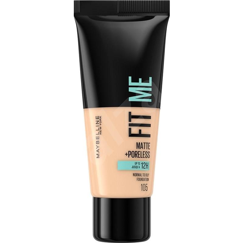 MAYBELLINE NEW YORK Fit Me! Matte & Poreless Foundation 105 Natural Ivory 30 ml - Make-up