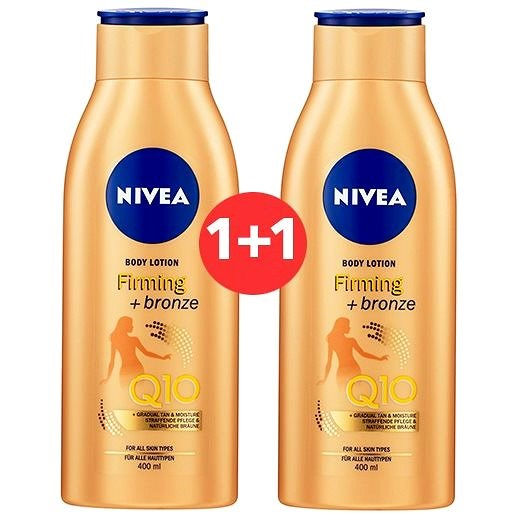 NIVEA Firming + Bronze Q10 Body Lotion 400 ml 1+1 - Tělové mléko