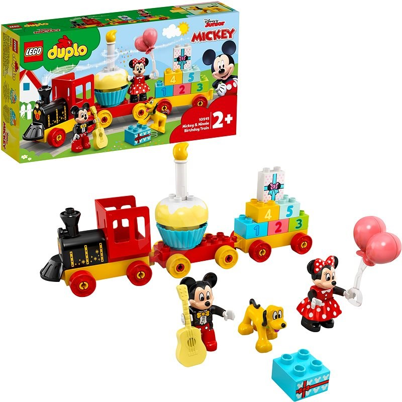 LEGO DUPLO Disney TM 10941 Narozeninový vláček Mickeyho a Minnie - LEGO stavebnice