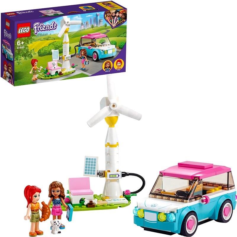LEGO Friends 41443 Olivia a její elektromobil - LEGO stavebnice