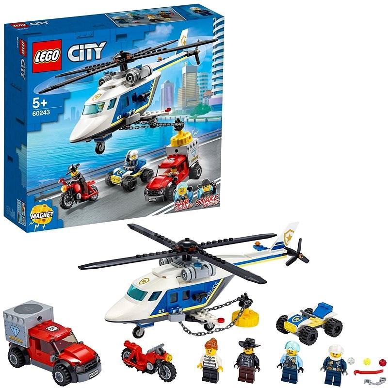 LEGO City Police 60243 Pronásledování s policejní helikoptérou - LEGO stavebnice