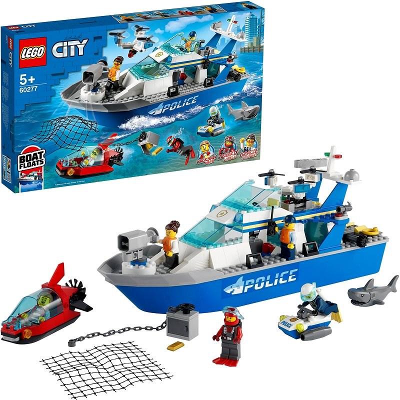 LEGO City 60277 Policejní hlídková loď - LEGO stavebnice