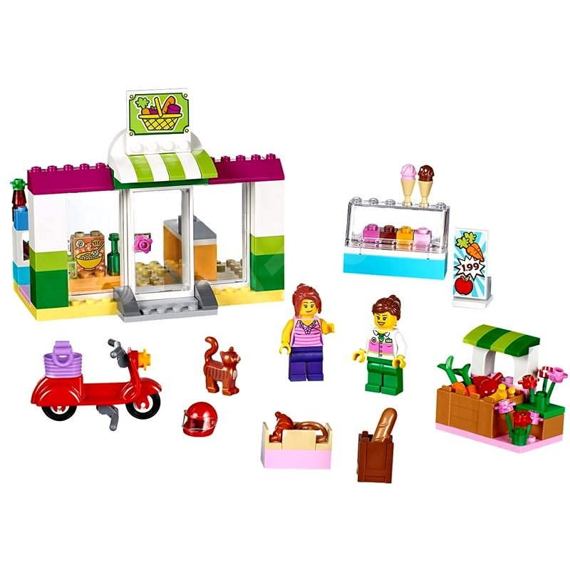 LEGO Juniors 10684 Supermarket v kufříku - Stavebnice