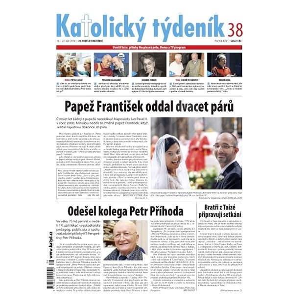 Katolický týdeník - 38/2014 - Elektronické noviny