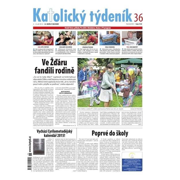 Katolický týdeník - 36/2014 - Elektronické noviny