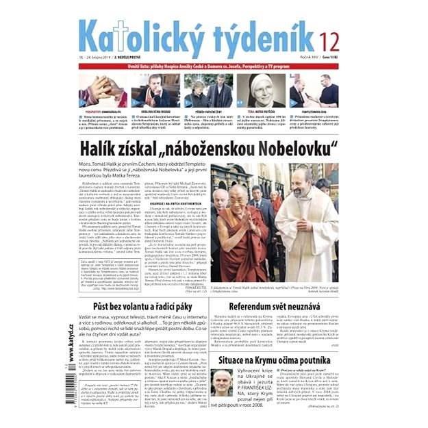 Katolický týdeník - 12/2014 - Elektronické noviny