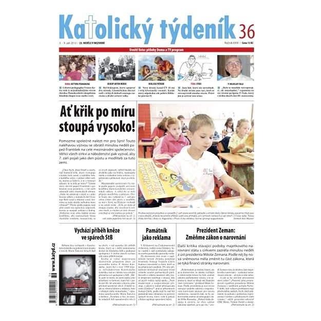 Katolický týdeník - 36/2013 - Elektronické noviny