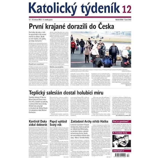 Katolický týdeník - 12/2015 - Elektronické noviny