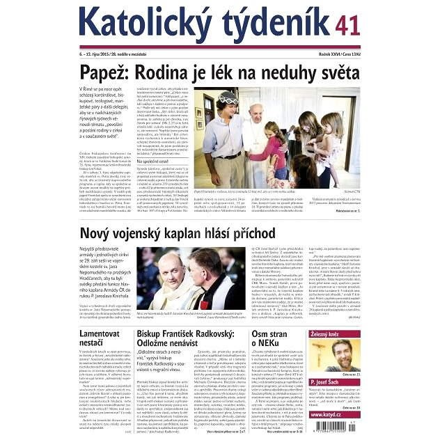 Katolický týdeník - 41/2015 - Elektronické noviny