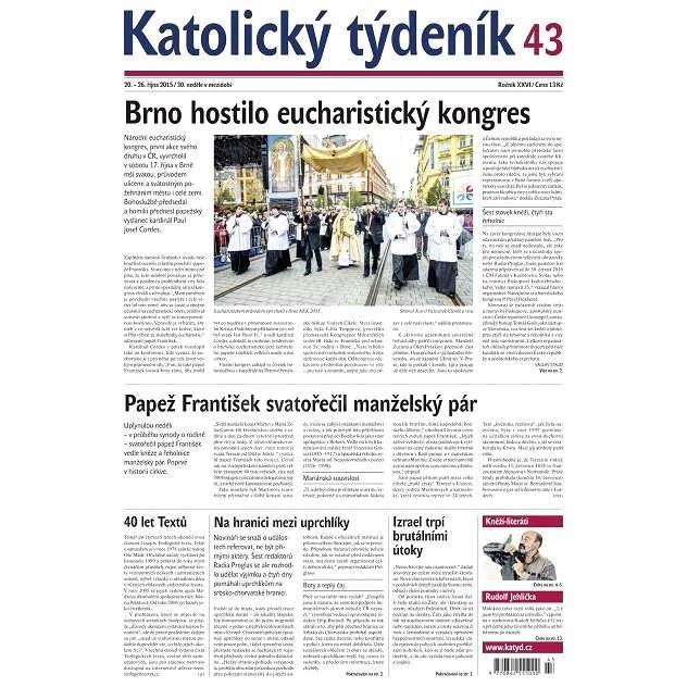 Katolický týdeník - 43/2015 - Elektronické noviny