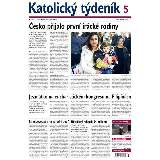Katolický týdeník - 5/2016 - Elektronické noviny