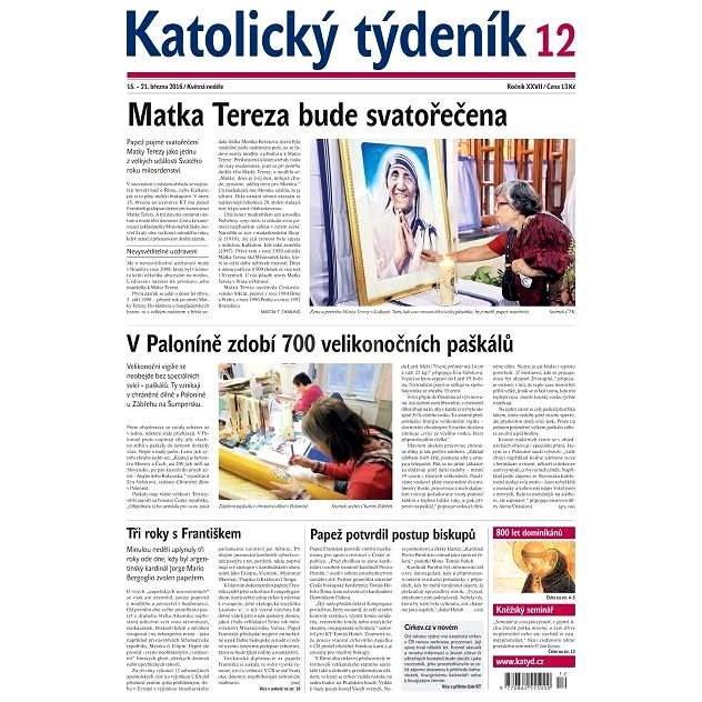 Katolický týdeník - 12/2016 - Elektronické noviny