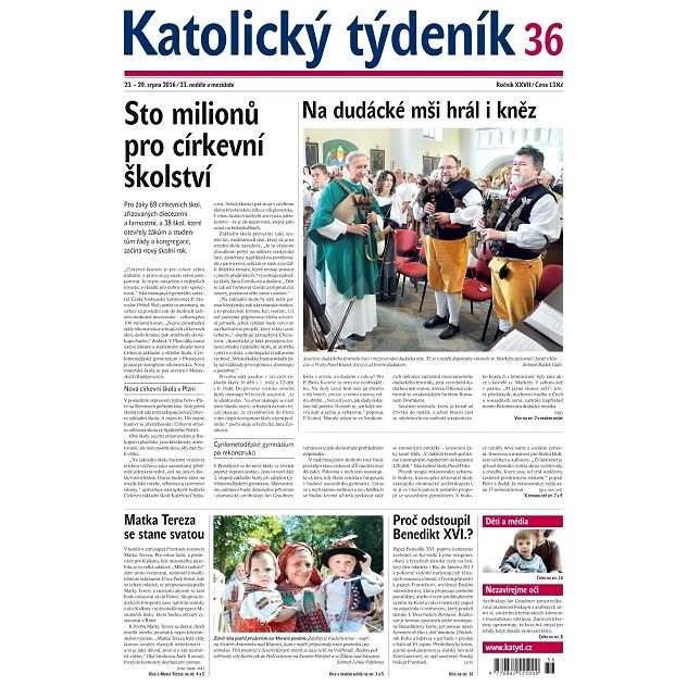 Katolický týdeník - 36/2016 - Elektronické noviny
