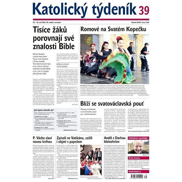 Katolický týdeník - 39/2016 - Elektronické noviny