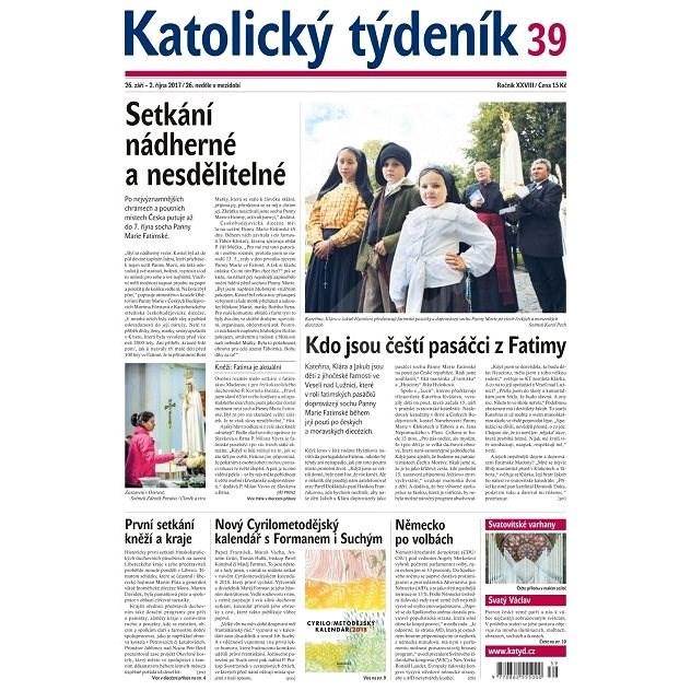 Katolický týdeník - 39/2017 - Elektronické noviny