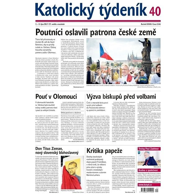 Katolický týdeník - 40/2017 - Elektronické noviny
