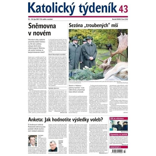 Katolický týdeník - 43/2017 - Elektronické noviny