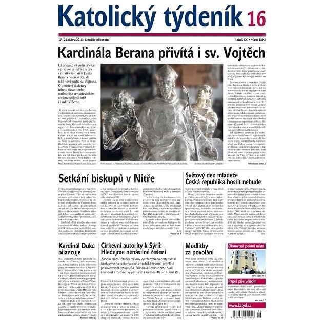 Katolický týdeník - 16/2018 - Elektronické noviny