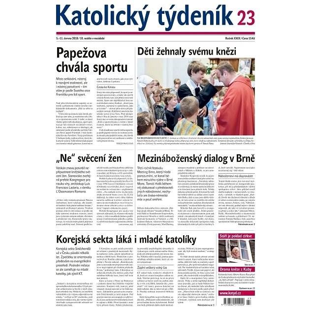 Katolický týdeník - 23/2018 - Elektronické noviny