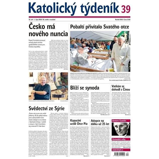 Katolický týdeník - 39/2018 - Elektronické noviny