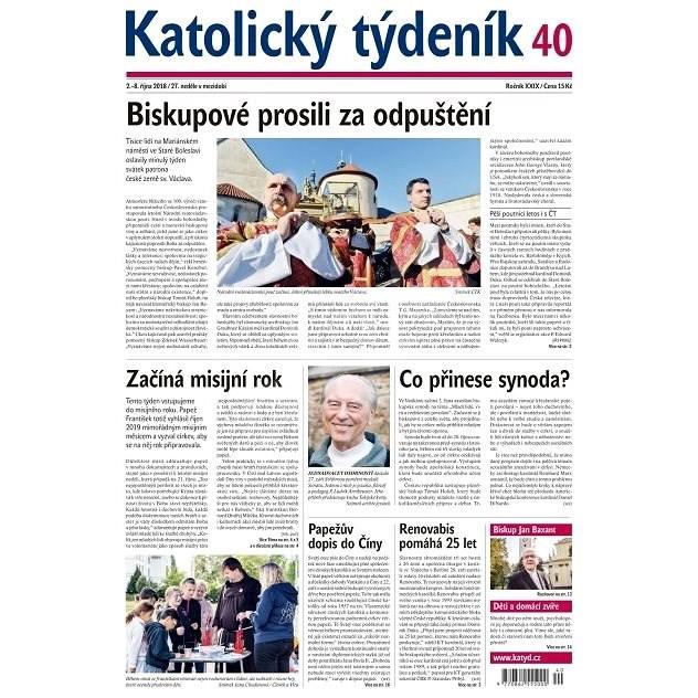 Katolický týdeník - 40/2018 - Elektronické noviny