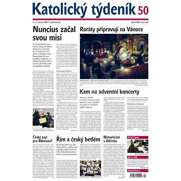 Katolický týdeník - 50/2018 - Elektronické noviny