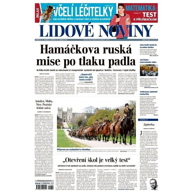 Lidové noviny - 17.04.2021 - Elektronické noviny