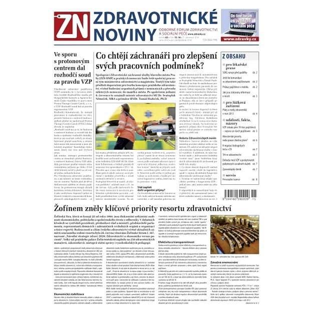 Zdravotnické noviny - 15-16/2014 - Elektronické noviny