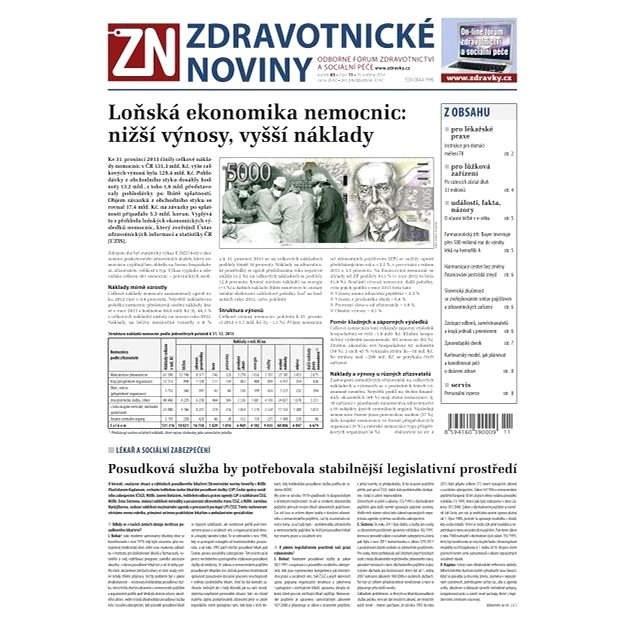 Zdravotnické noviny - 11/2014 - Elektronické noviny