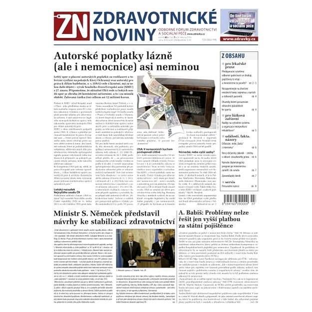 Zdravotnické noviny - 7/2014 - Elektronické noviny