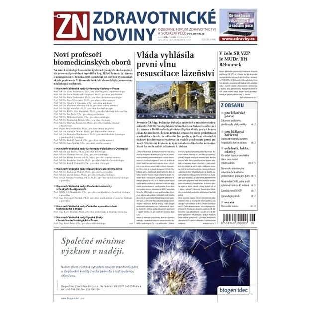 Zdravotnické noviny - 6/2014 - Elektronické noviny
