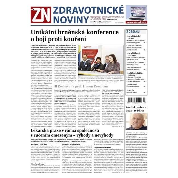 Zdravotnické noviny - 23/2014 - Elektronické noviny