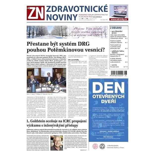 Zdravotnické noviny - 26/2014 - Elektronické noviny