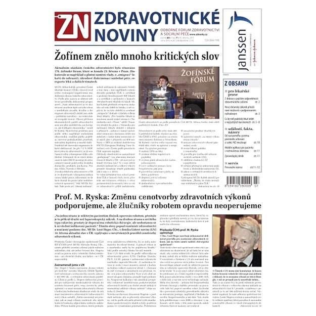 Zdravotnické noviny - 7/2015 - Elektronické noviny