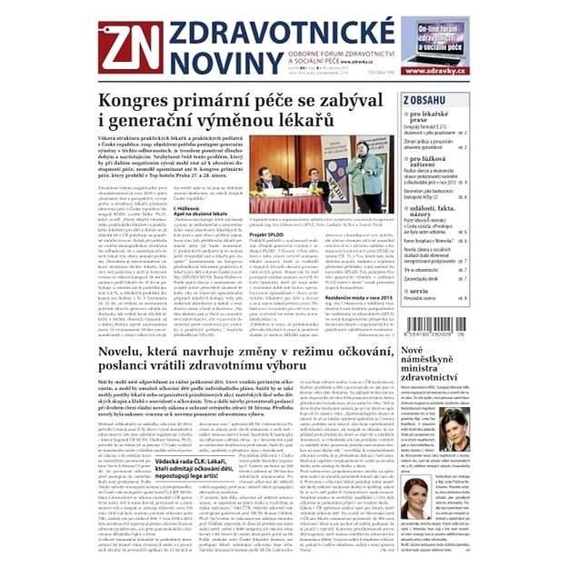 Zdravotnické noviny - 6/2015 - Elektronické noviny