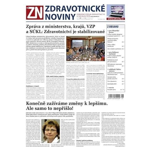 Zdravotnické noviny - 1-2/2015 - Elektronické noviny